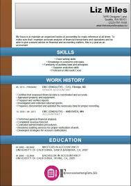Senior Accountant Resume Accounting Resume Template Free Resume Templates