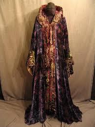 09018423 robe fantasy women s purple and blue velvet swirl