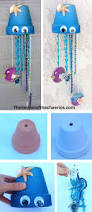 jellyfish clay pot wind chime troop pinterest wind chimes