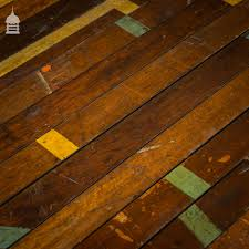 50 square metres of reclaimed mahogany strip floor boards
