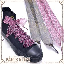 ribbon shoe laces kids rakuten global market leopard pattern shoelaces