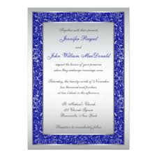 royal blue and silver wedding royal blue and silver wedding invitations announcements zazzle