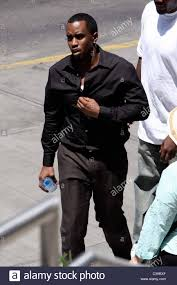 sean combs aka p diddy seen filming on location for his new movie