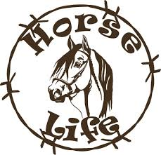jeep life decal horse life barb wire animal farm car truck trailer window vinyl