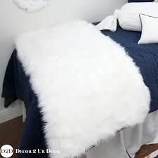 Fur Bed Set Navy U0026 White Fur Designer Dorm Bedding Set