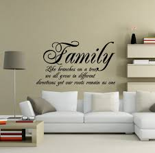 wall decor ideas text inspirational family quote wall