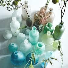 seaglass bottle vases hurricanes from west elm bliss living