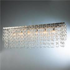 Small Glass Chandeliers Rectangular Glass Chain Island Chandelier Small Shades Of Light