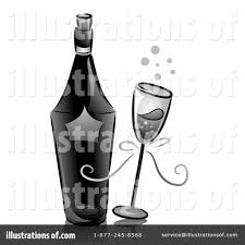 black and white champagne bottle clipart champagne clipart 1221174 illustration by bnp design studio
