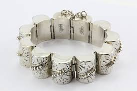 antique sterling silver bracelet images Antique early taxco mexico 980 1000 sterling silver bracelet JPG