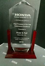 american honda motor co inc awards u0026 recognition road u0026 rail services