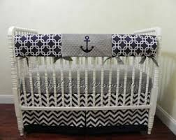 Nautical Baby Crib Bedding Sets Nautical Crib Bedding Etsy