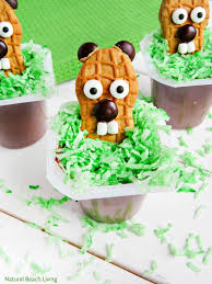 the cutest groundhog day snack idea for kids natural beach living