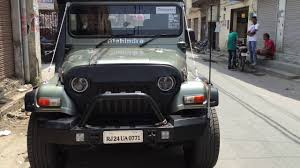 modified mahindra jeep mahindra thar jeep 4 4 modification done by g r customs punjab