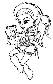 monster high coloring pages baby abbey bominable coloring page monster high abbey bominable items to color