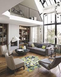 Salon Design Interior Appartement Paris 6ème Un Atelier Sous Verrière Rénové En 120m2
