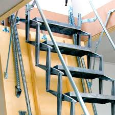 motorized ladder accordion protection aluminum retractable