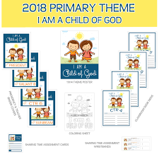 2018 primary sharing time bundle i am a child of god 2018