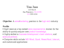 Sample Objectives In A Resume by Step 2 List Of Keywords For Your Resume