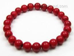 red bead bracelet images Stretchy red coral gemstone bead bracelet bulk sale 8mm round jpg