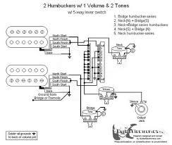 humbuckers 5 way lever switch 1 volume 2 tones 05