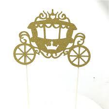cinderella carriage cake topper online shop 1pc kawaii cupcake cake topper cinderella s pumpkin