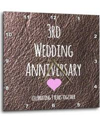 3rd wedding anniversary gifts new savings on 3drose 3rd wedding anniversary gift leather