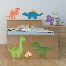 children s dinosaur wall sticker set by oakdene designs children s dinosaur wall sticker set