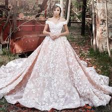 wedding dresses 200 moda the shoulder ivory lace blush pink wedding
