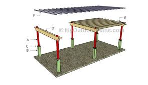 Pergola Free Plans by 12x24 Free Pergola Plans Myoutdoorplans Free Woodworking Plans