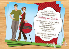 Couple S Shower Invitations Couple Bbq Wedding Shower Invitation