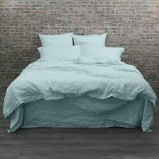 garment washed linen duvet cover icy blue linenshed com au
