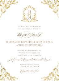 wedding invites royal wedding update this is what prince harry and meghan