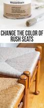 how i changed the color on rush seat chairs in my own style