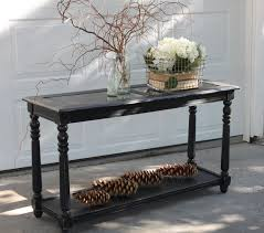 Table With Shelf Underneath by Black Wooden Distressed Console Tables With Glass Top And Long Shelf Underneath Jpg