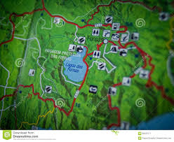 Azores Map Lagoa Das Furnas Map Close Up Stock Image Image 66437577