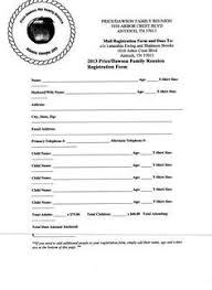 family reunion registration form template family reunion