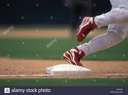 Home Plate Baseball by Baseball Runner Rounding Third Base And Heading For Home Plate