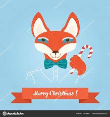 christmas cute forest fox head logo vector modern fashionable