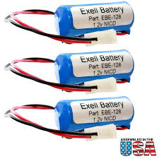 lithonia emergency lighting battery 3pc emergency lighting battery fits lithonia elb1p201n1 white molex