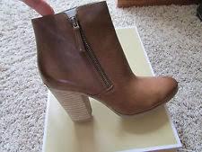 womens boots denver michael kors denver bootie ankle boots caramel s 9 ebay