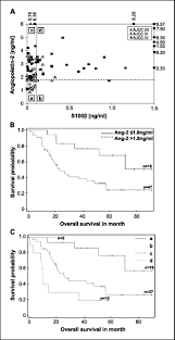 angiopoietin 2 levels are associated with disease progression in