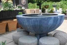 Fountains For Home Decor Concrete Water Fountain Bowl Great Home Decor Perfect Concrete