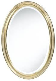 Oval Bathroom Mirror by Bathroom Frameless Beveled Oval Bathroom Mirror Oval Bathroom