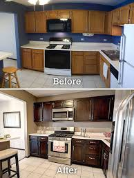 gel stain kitchen cabinets before and after general finishes gel stain java stained kitchen cabinets