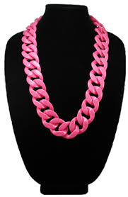 pink chain necklace images Neon pink long shelby necklace jpg