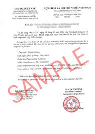 approval letter template download vietnam forms vietnam visa online attachments sample of vietnam visa approval letter