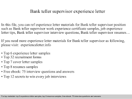 bank teller supervisor experience letter 1 638 jpg cb u003d1409571715