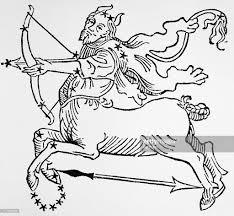 depiction of sagittarius sign centaur pictures getty images
