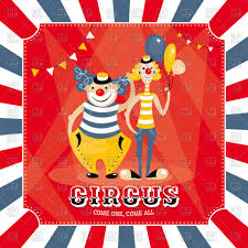 circus happy clown fooling about vector clipart image 16926